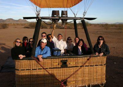 PMG in a hot air balloon