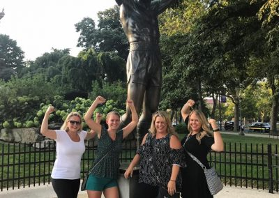 PMG girls at the Rocky statue
