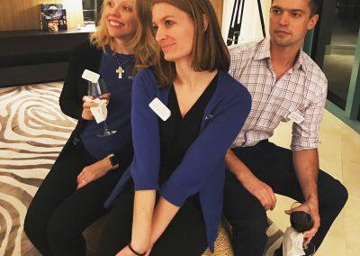 Sarah, Tori, and John
